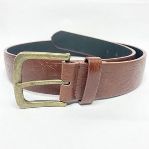 Chico's Boho Brown Genuine Cowhide Leather Belt S
